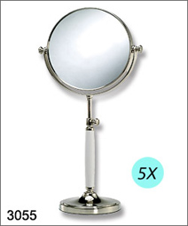 3055 tabletop mirror, reversible, ceramic handle